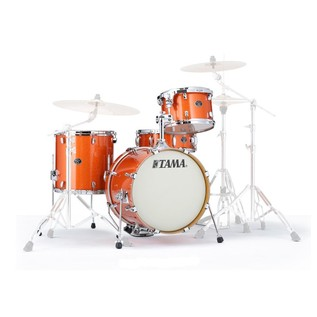 Tama Silverstar 18'' 4 Piece Shell Pack, Bright Orange Sparkle