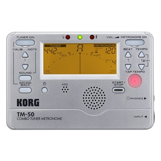 Korg TM-50 Combo Tuner/Metronome - Top View