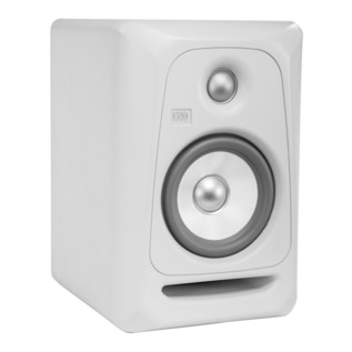 KRK Rokit RP5 G3 Active Monitor, Pair (White Noise) - Speaker Angled