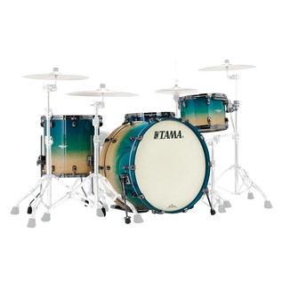 Tama Starclassic Maple 24'' Shell Pack, Figured Caribbean Blue Fade