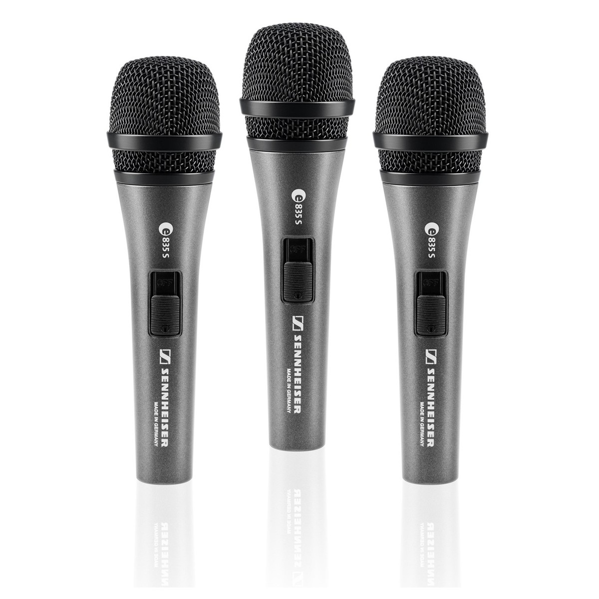 Click to view product details and reviews for Sennheiser E835s Cardioid Vocal Microphone 3 Pack.
