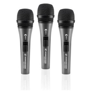 Sennheiser e835s Cardioid Vocal Mic, 3 Pack