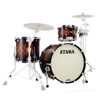 Tama Starclassic Maple 22'' 3 Pc Shell Pack, Molten Satin Brown Burst