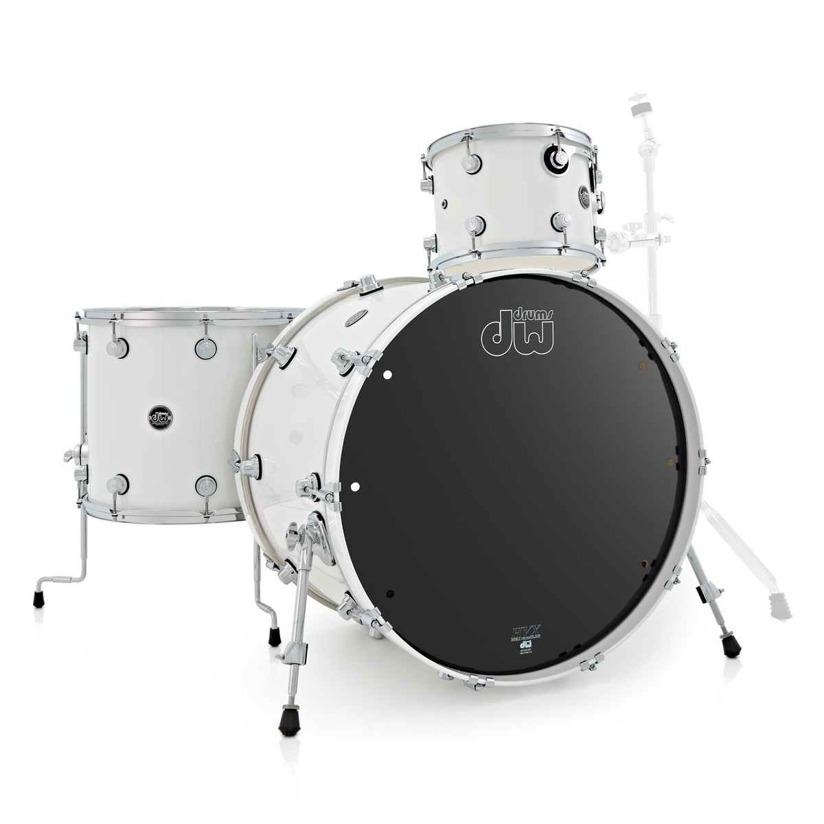 dw drums performance series 24 3 piece shell pack white ice at gear4music. Black Bedroom Furniture Sets. Home Design Ideas
