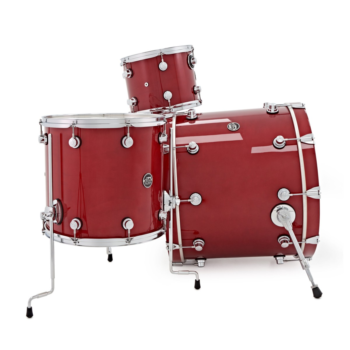 dw drums performance series 22 3 piece shell pack candy apple red at gear4music. Black Bedroom Furniture Sets. Home Design Ideas