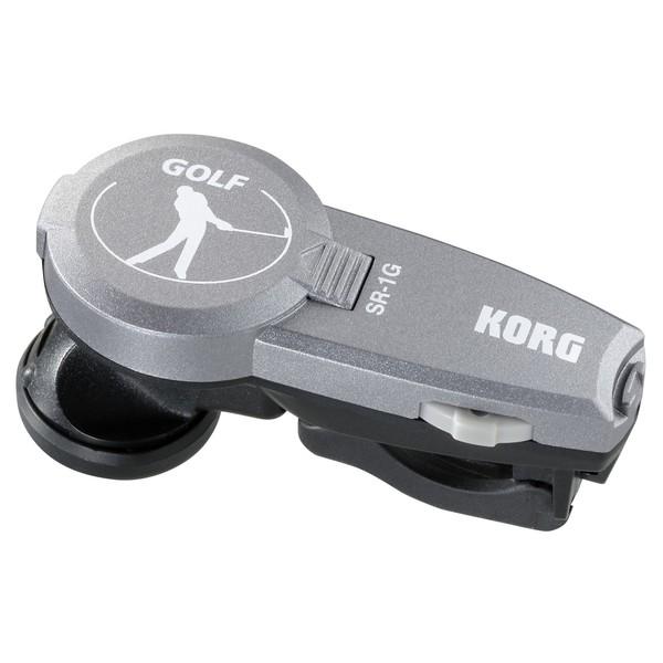 Korg SR-1G StrokeRhythm In-Ear Golf Metronome - Angled
