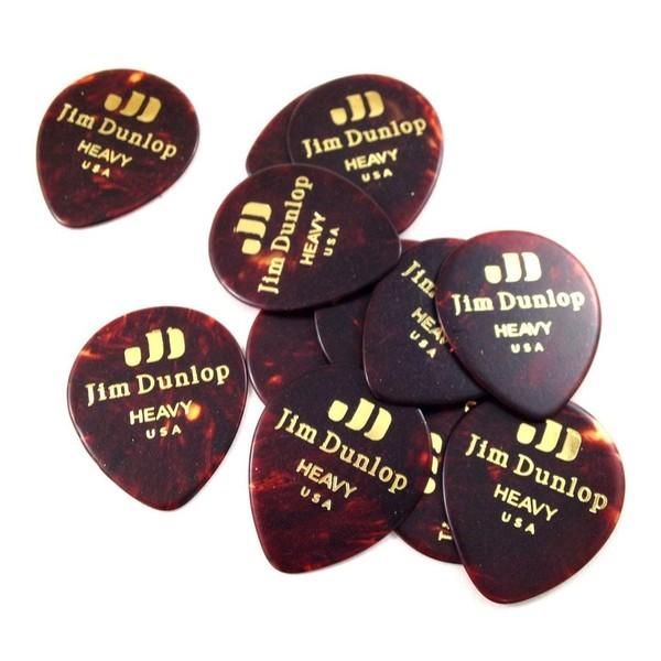 Dunlop Celluloid Teardrop Player Pack Of 12 (Heavy), Shell