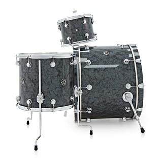 DW Drums Performance Series, 24 3 Piece Shell Pack, Black Diamond