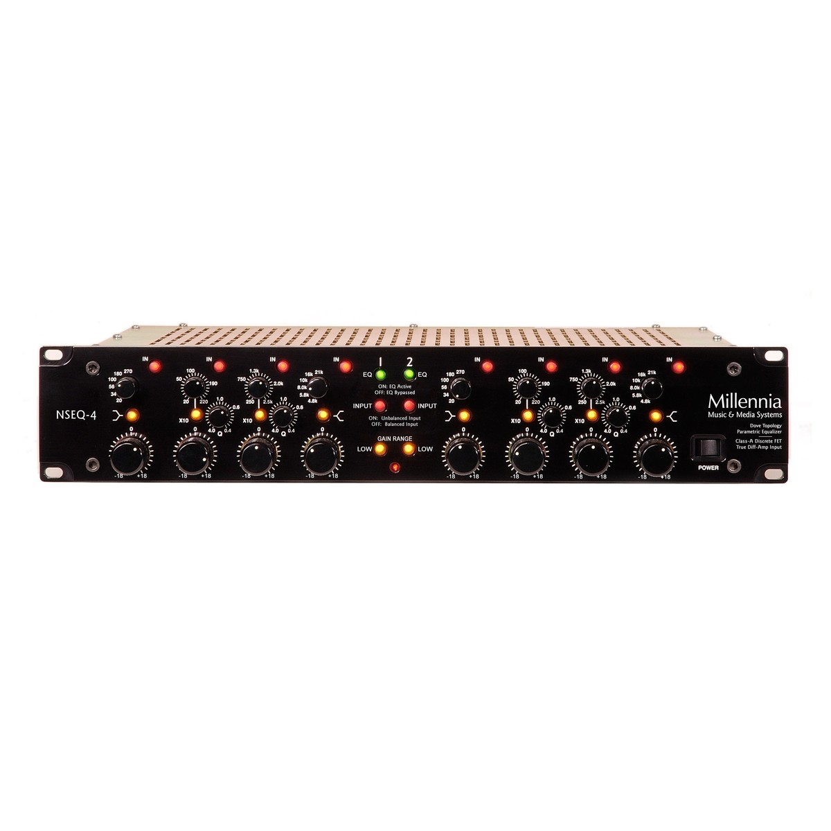 Millennia Media Nseq 4 Class A Solid State Parametric Equaliser At Transformerless Power Supply Fet