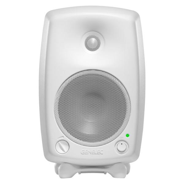 Genelec 8030B Bi-Amped Studio Monitor, White (Single) - Front