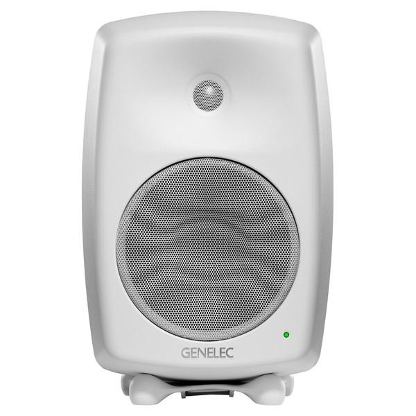 Genelec 8040B Bi-Amped Studio Monitor, White (Single) - Front