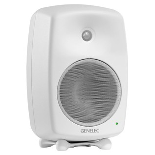 Genelec 8040B Bi-Amped Studio Monitor, White (Single) - Angled