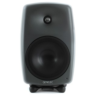 Genelec 8050B Bi-Amped Studio Monitor, Dark Grey (Single) - Front