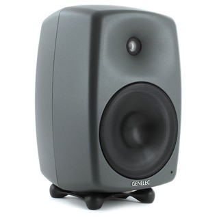 Genelec 8050B Bi-Amped Studio Monitor, Dark Grey (Single) - Angled