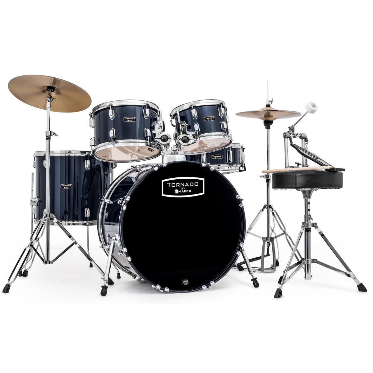 Mapex Tornado Iii 22 Rock Fusion Drum Kit Blue Box