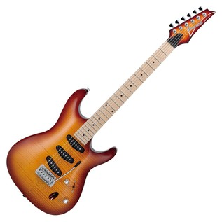 Ibanez SA130MFM Electric Guitar, Brown Burst