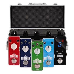 SubZero Micro Guitar Pedal Rock Pack and Pedal Board