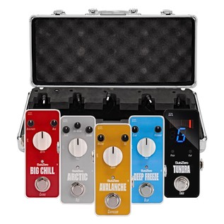 SubZero Micro Guitar Pedal Blues Pack and Pedal Board