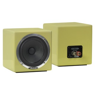 Avantone Mixcube Passive Studio Monitors, Butter Cream (Pair) - Angled
