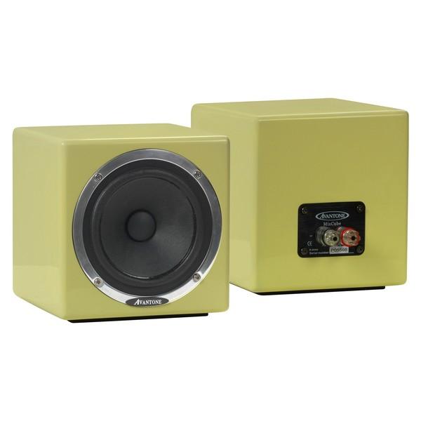 Avantone Mixcube Passive Studio Monitors, Butter Cream (Pair) - Angled