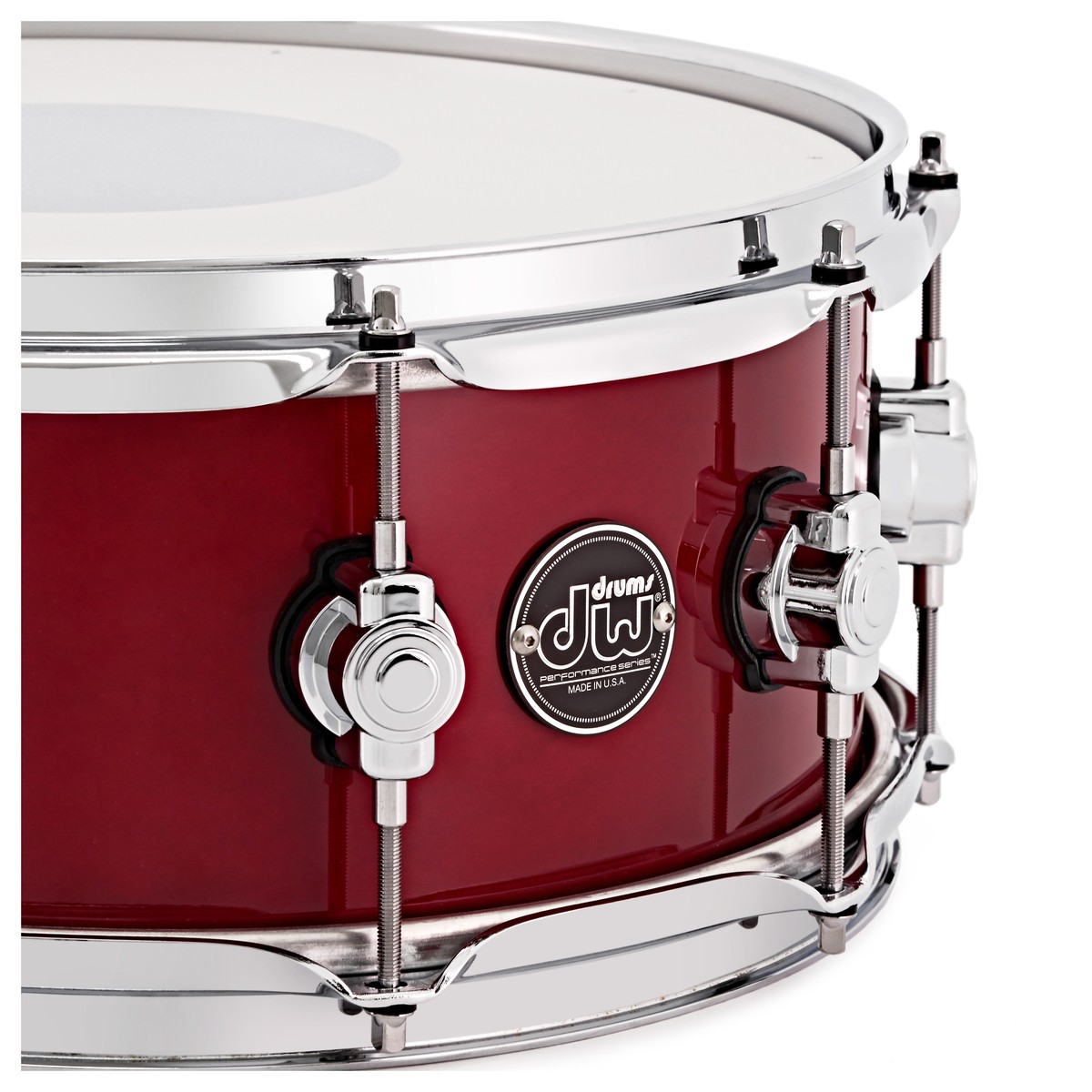 dw drums performance series 14 x 5 5 snare drum candy apple red at gear4music. Black Bedroom Furniture Sets. Home Design Ideas