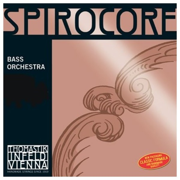 Thomastik Spirocore 1/2 Double Bass E String, Chrome Wound