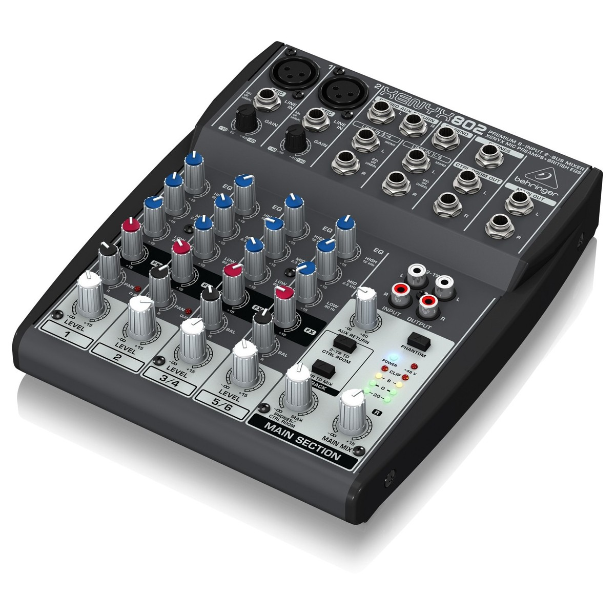 behringer xenyx 802 mixer at gear4music. Black Bedroom Furniture Sets. Home Design Ideas