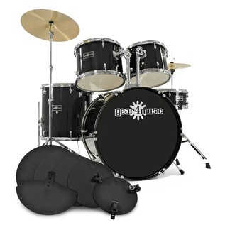 GD-2 Drum Kit + Practice Pack, Black
