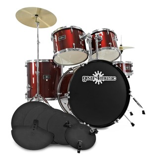 GD-2 Drum Kit + Complete Beginners Pack, Wine Red