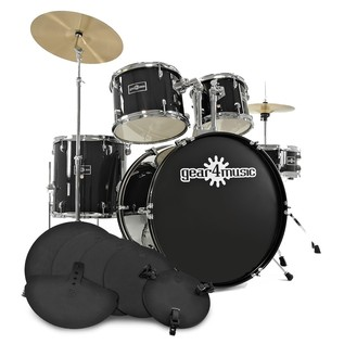 GD-2 Fusion Drum Kit + Practice Pack, Black