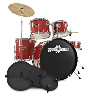 GD-2 Fusion Drum Kit + Practice Pack, Red Sparkle