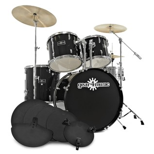 GD-7 Drum Kit + Practice Pack, Black