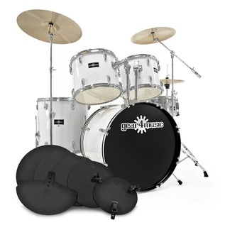 GD-7 Drum Kit + Pracitice Pack, Arctic White