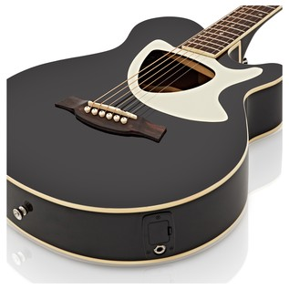 Deluxe Thinline Electro Acoustic Guitar Pack by Gear4music, Black