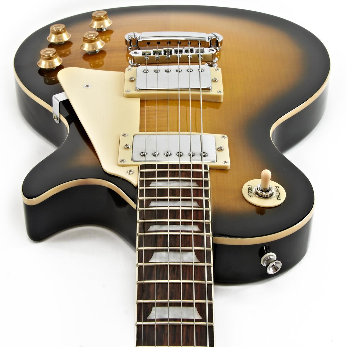 erityinen osa hyvä istuvuus hieno tyyli New Jersey Electric Guitar by Gear4music, Sunburst - Box Opened