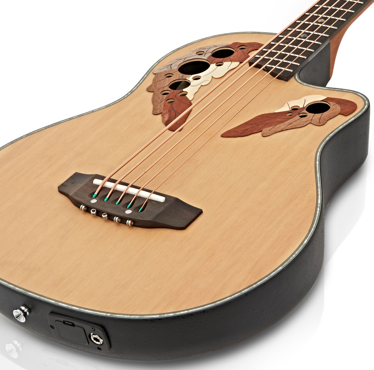 roundback electro acoustic 5 string bass guitar by gear4music b stock at. Black Bedroom Furniture Sets. Home Design Ideas