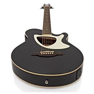Deluxe Thinline Electro Acoustic Guitar + 15W Amp Pack, Black