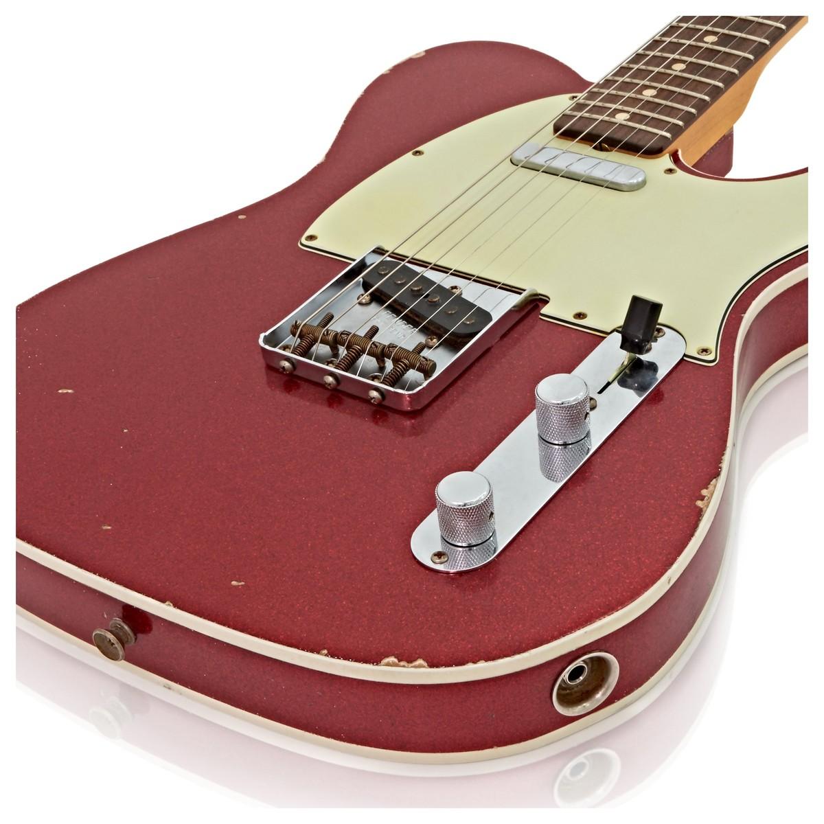 fender custom shop 1962 relic telecaster custom red sparkle cz527501 at. Black Bedroom Furniture Sets. Home Design Ideas