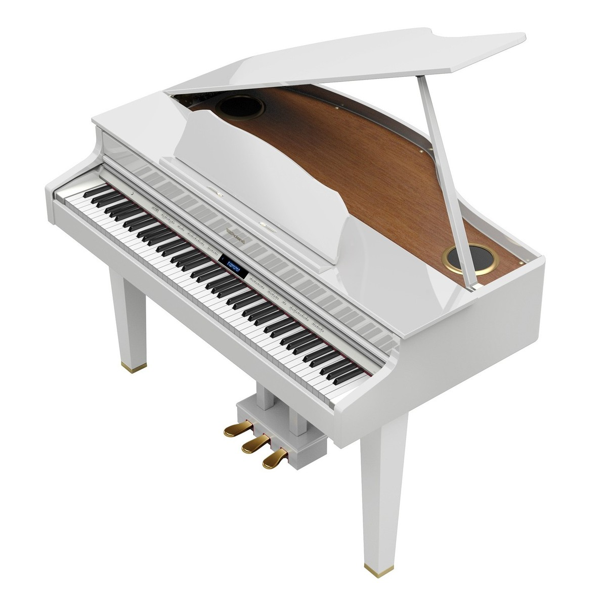 Piano Queue Num Rique Roland Gp607 Blanc Brillant