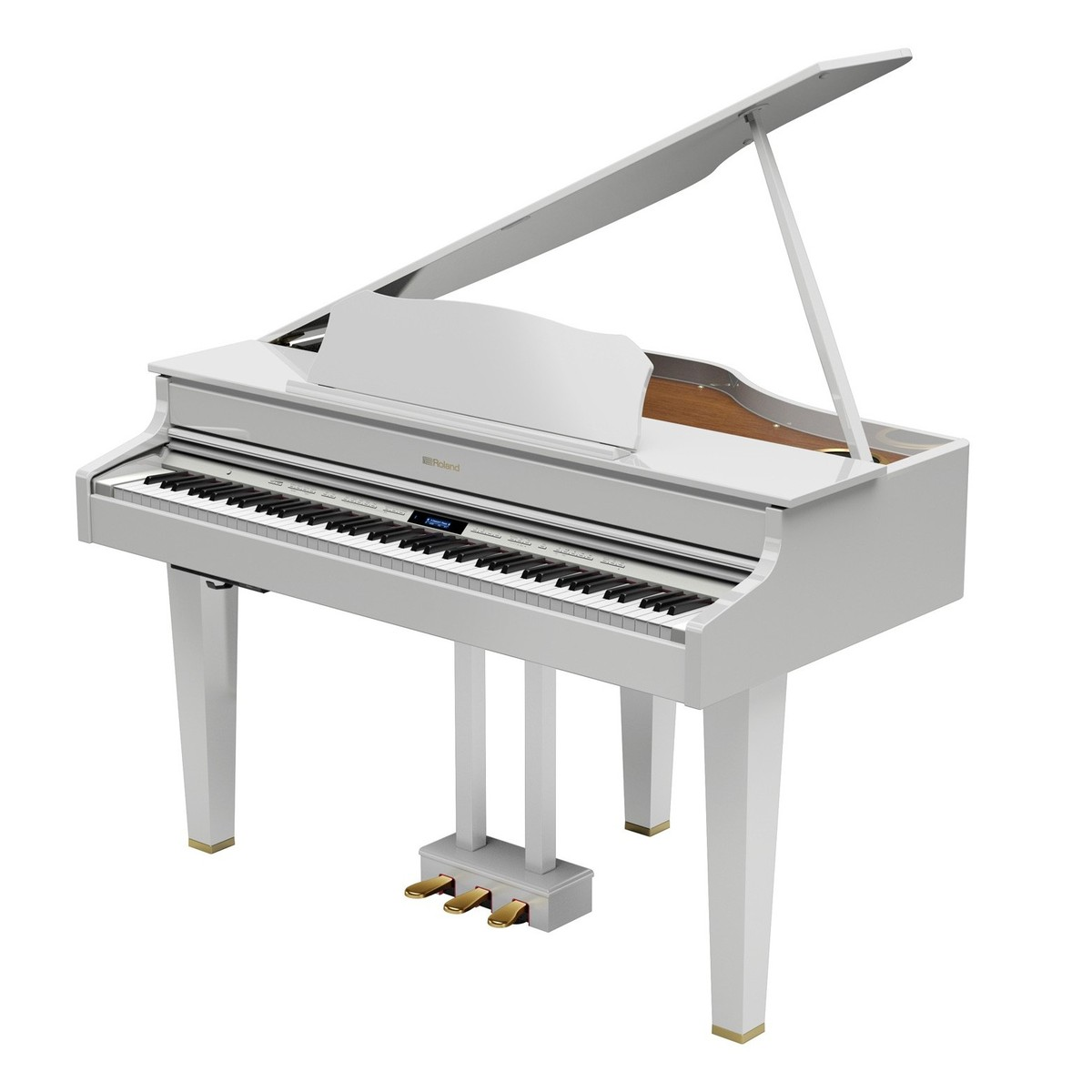 roland gp607 digital grand piano polished white at gear4music. Black Bedroom Furniture Sets. Home Design Ideas