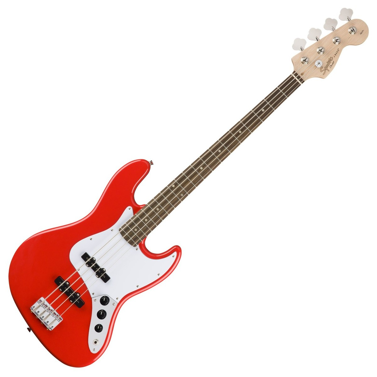 squier by fender affinity jazz bass guitar race red at. Black Bedroom Furniture Sets. Home Design Ideas