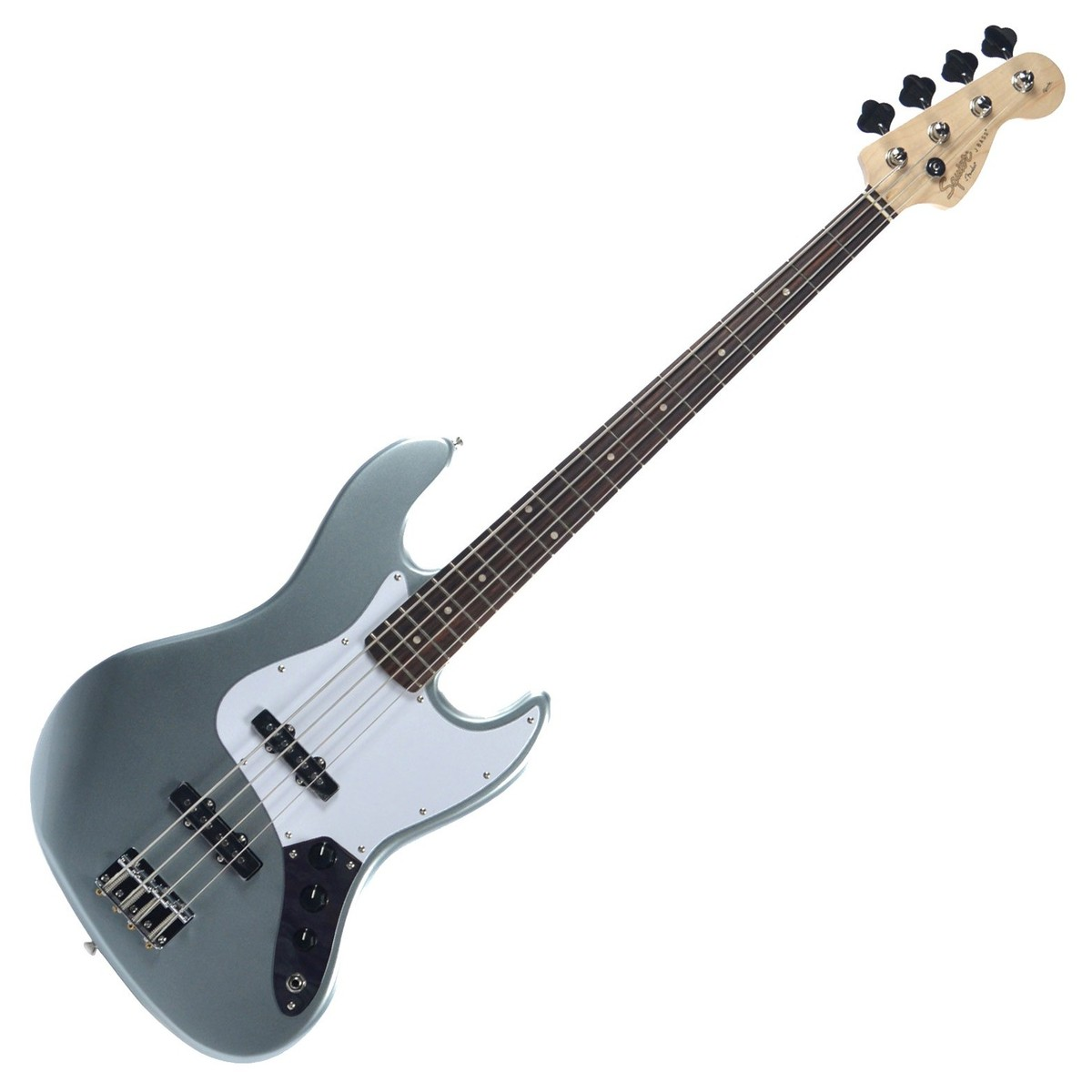 squier by fender affinity jazz bass guitar slick silver at gear4music. Black Bedroom Furniture Sets. Home Design Ideas