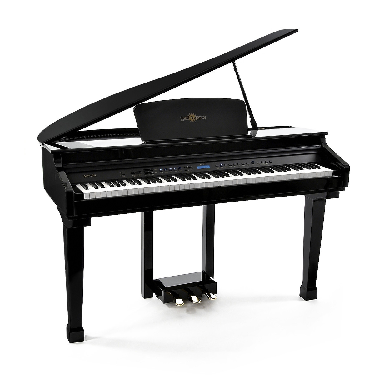 Gdp 100 digital grand piano by gear4music b stock at Size of baby grand piano