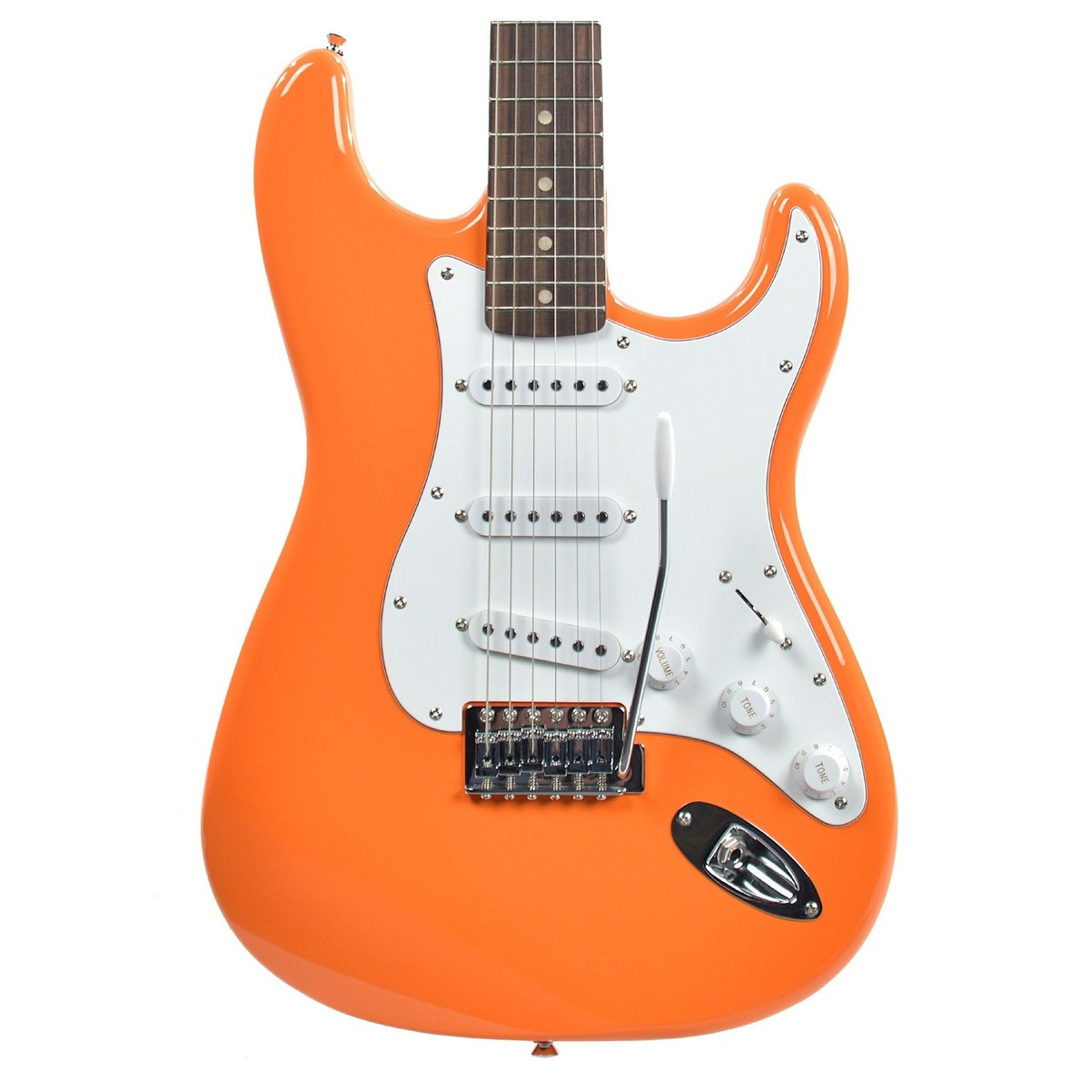 squier affinity stratocaster competition orange at gear4music. Black Bedroom Furniture Sets. Home Design Ideas
