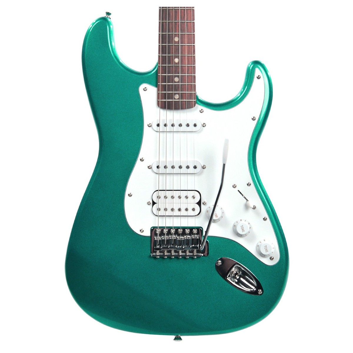 squier by fender affinity stratocaster hss race green at gear4music. Black Bedroom Furniture Sets. Home Design Ideas