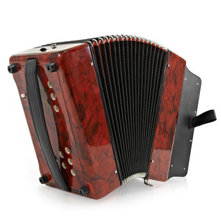 Button Accordion by Gear4music, 12B 31K red