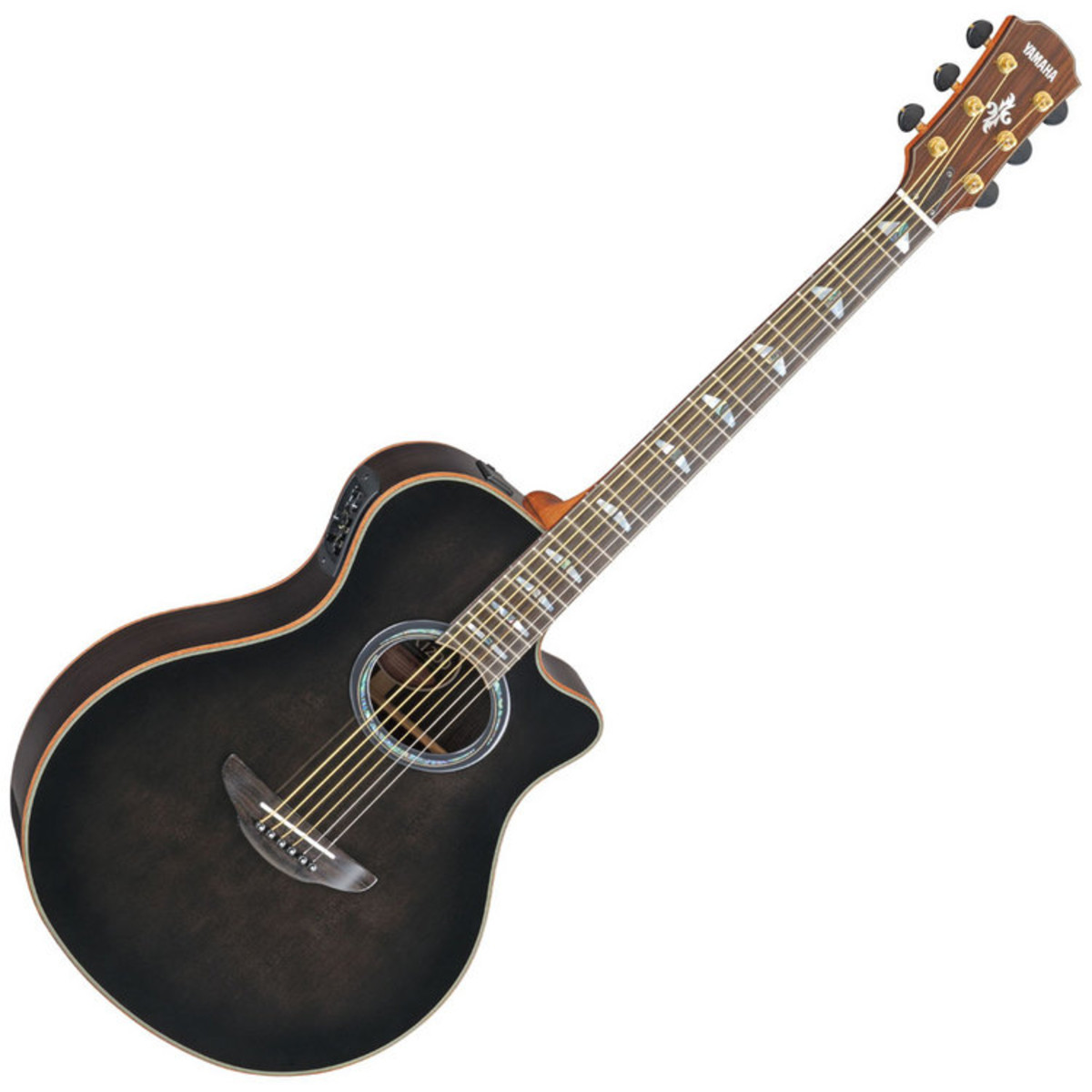 yamaha apx1200 electro acoustic guitar translucent black box opened at gear4music. Black Bedroom Furniture Sets. Home Design Ideas