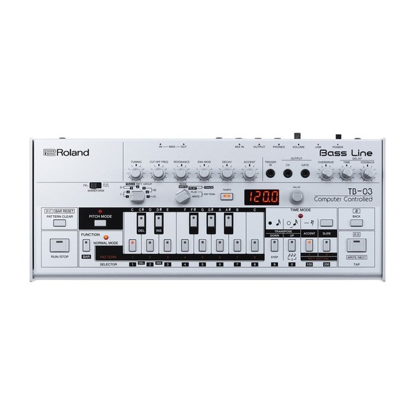 Roland Boutique TB-03 Module with K-25m Keyboard - Synth Top