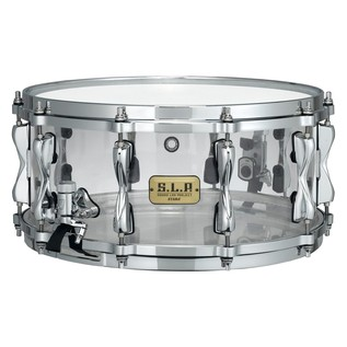 Tama SLP 14'' x 6.5'' Mirage Acrylic Snare Drum, Crystal Ice