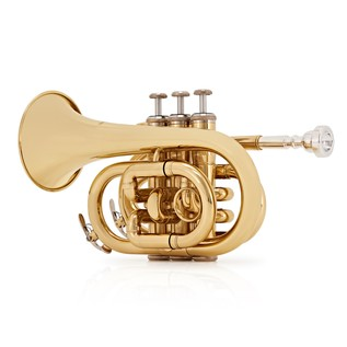 Pocket Trumpet by Gear4music, Gold